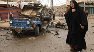 Взорванный УАЗ в Ираке