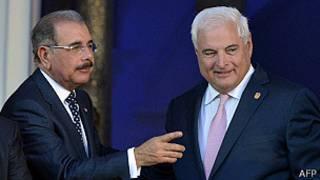 presidentes de República Dominicana, Danilo Medina, y de Panamá, Ricardo Martelli