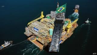 Plataforma da Petrobras em Angra. Foto: AFP