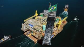 Plataforma petrolera en las costas de Angra dos Reis, 180 kilómetros al sur de Río de Janeiro