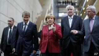 Предварительные переговоры между Меркель и лидерами СДПГ в октябре 2013 года