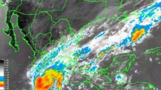 Huracán Raymond. Imagen: Servicio Meteorológico Nacional, México