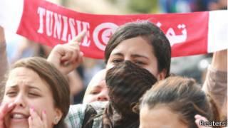 محتجون في تونس