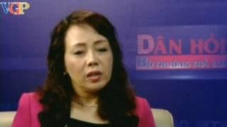 Bà Nguyễn Thị Kim Tiến trên chương trình 'Dân hỏi-Bộ trưởng trả lời'