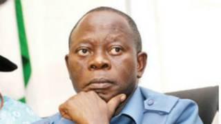 Gwamnan jihar Edo a Najeriya Adams Oshiomole