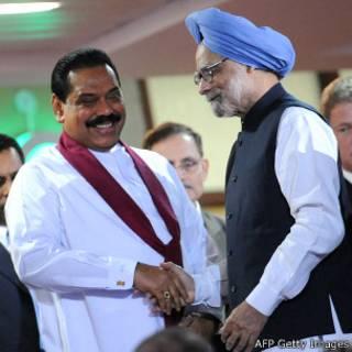 Mahinda Rajapaksa and Manmohan Singh