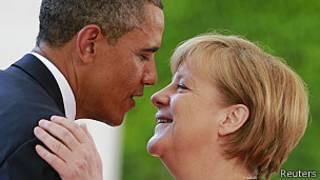 Obama y Merkel