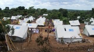 Campo de refugiados en Republica Centroafricana