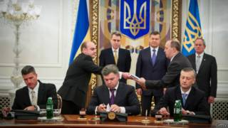 Подписание соглашения в Киеве
