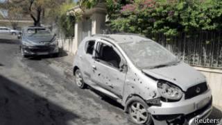 Embajada de China tras impacto de mortero