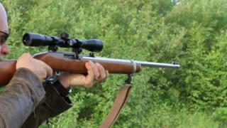 Охотничье ружье с прицелом