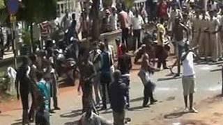 கோவாவில் ஆர்ப்பாட்டத்தில் ஈடுபடும் நைஜீரியர்கள்