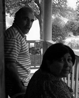 ابوالفضل معزی و همسر آمریکایی اش دایانا