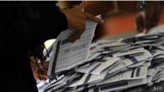 Papeletas de votación en Maldivas