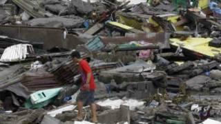 Devastación de Haiyán en Filipinas