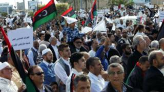 Manifestation contre la présence des milices à Tripoli, le 15  novembre 2013