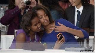 дочери Обамы, инаугурация Обамы