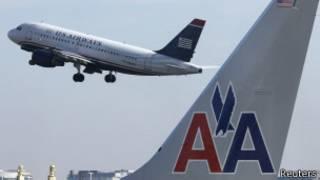 Aviones de American Airlines y US Airways