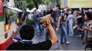 Manifestantes en Tailandia