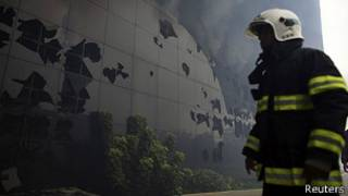 Incendio en Memorial de América Latina