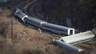 न्यूयॉर्क ट्रेन दुर्घटना
