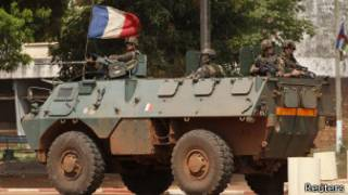 Tropas francesas en Bangui