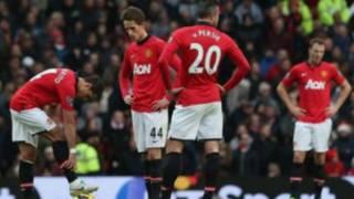 Dejected players of Man U