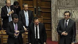 Antonis Samaras en el Congreso
