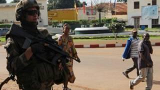 Binh lính Pháp ở Trung Phi