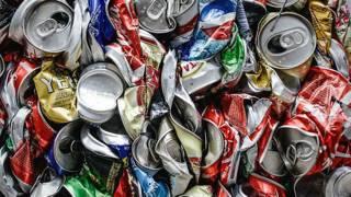 Latas de aluminio para reciclar