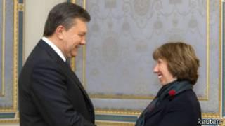Кэтрин Эштон и Виктор Янукович провели встречу в среду