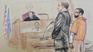 Бабар Ахмад в зале суда