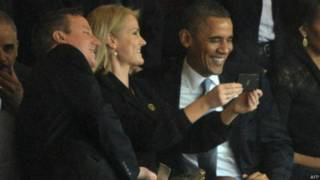 Helle Thorning-Schmidt, Barack Obama e David Cameron   Crédito: AFP