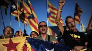Protesto catalão (AFP)