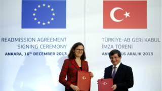 Cecilia Malström ve Ahmet Davutoğlu