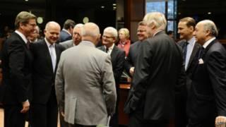 Ряд министров иностранных дел стран Европы