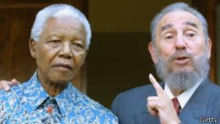 Castro y Mandela en 2001