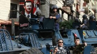 राष्ट्रपति बशर अल असद की वफ़ादार फ़ौज