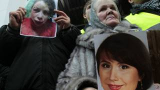 Активісти пікетують МВС, вимагаючи відставки міністра Віталія Захарченка