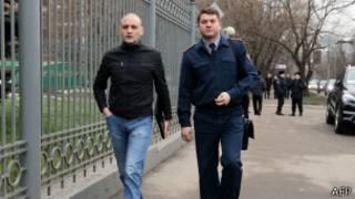 Сергей Удальцов направляется в Мосгорсуд