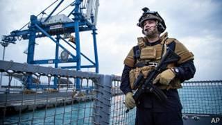 Miembro de la tripulación de la fragata noruega