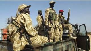 Des soldats de l'armée du Soudan du Sud