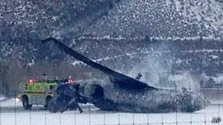 Avioneta siniestrada en Aspen
