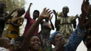 Wasu mazauna Bangui