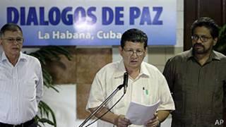 Negociadores de FARC (foto de archivo)