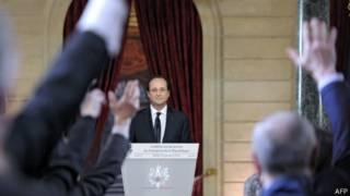 Олланд на пресс-конференции