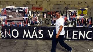Grafiti de No más violencia