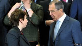 Кэтрин Эштон и Сергей Лавров