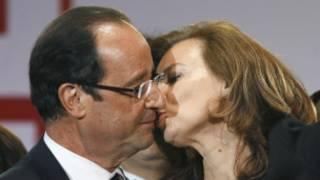 Francois Hollande y Valerie Trierweiler