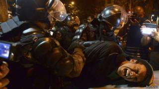 Protesto no Rio de Janeiro (Reuters)